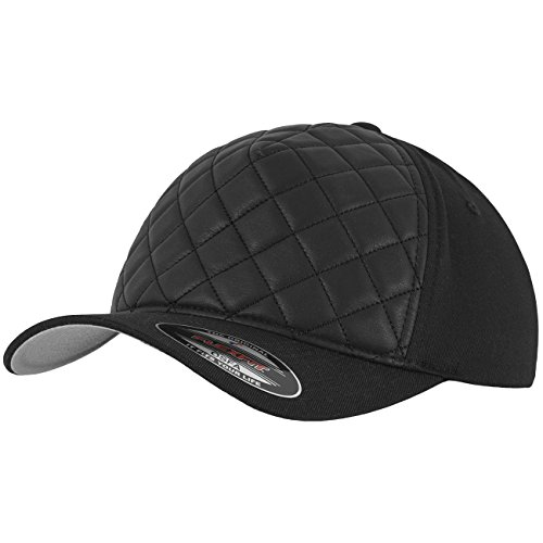 Flexfit Diamond Quilted Kappen, Black, One Size (Kappe Gesteppte)