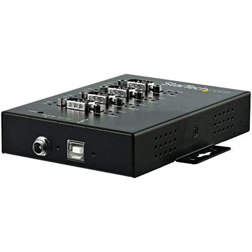 Rs 422-hub (StarTech icusb234854i (4Ports, USB auf Seriell RS-232/422/485, Schwarz)