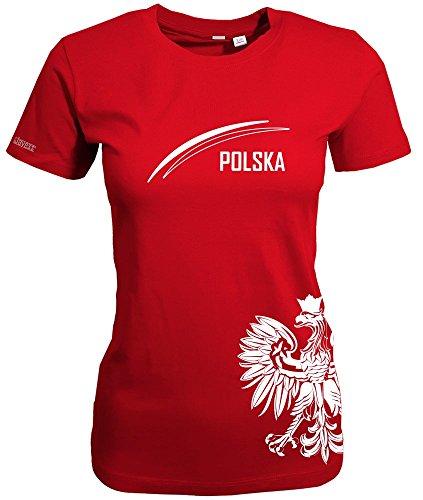 Jayess POLEN - POLSKA ADLER - WOMEN T-SHIRT Rot by Gr. M