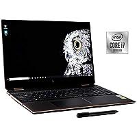 2020 HP Spectre x360 15 CoreTM i7-10750H 2.6GHz 1TB PCIe SSD 16GB Memory 15.6 بوصة 4K IPS (3840x2160) شاشة لمسية IR كاميرا NVIDIA GTX 1650 4GB لوحة مفاتيح بإضاءة خلفية ويندوز 10 أسود