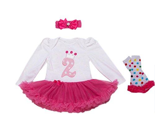 Marlegard Baby Mädchen (0-24 Monate) Ballon Kleid 24 Monate Gr. 24 Monate, hot pink