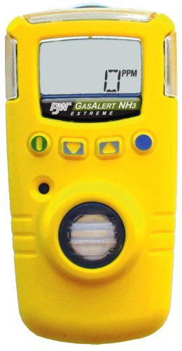 Dl-single (BW Technologies GAXT-A-DL GasAlert Extreme Ammonia (NH3) Single Gas Detector, 0-100 ppm Measuring Range, Yellow by BW Technologies)