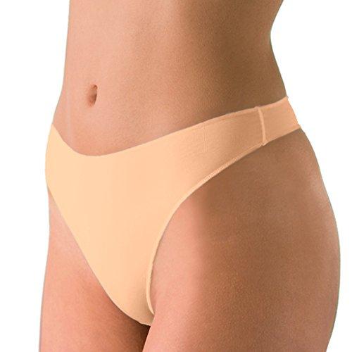 2er Spar-Pack - Nina von C. - Secret - String - Damen-Slip - Größe 36-44 - Weiß Schwarz Haut Creme (38, Haut)