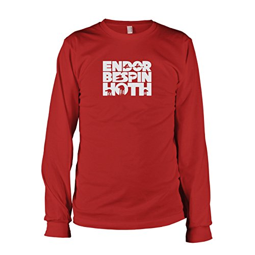 TEXLAB - Endor Bespin Hoth - Langarm T-Shirt Rot