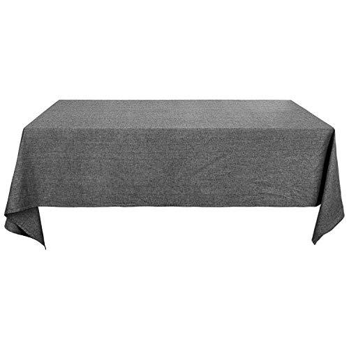 Deconovo Tischdecke Wasserdicht Tischwäsche Lotuseffekt Tischtuch 130x280 cm Schwarz