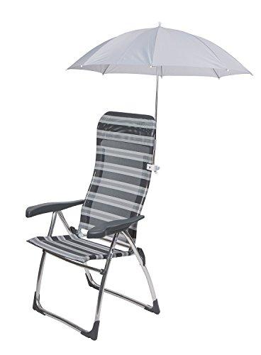 Sonnenschirm, Schirm für Camping Stühle, klemmbar, Klemmschirm universal für Rundrohr, Sonnenschutz [60101036] (Camping-stuhl Sonnenschirm)