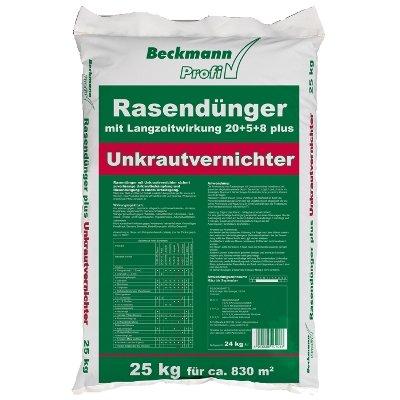 25 kg Rasendünger mit Unkrautvernichter (830m²) Langzeitwirkung Beckmann Profi von Beckmann auf Du und dein Garten