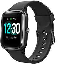 Reloj Inteligente Mujer Hombre, Smartwatch con Pulsómetro, Pulsera Actividad Inteligente con Cronómetros Podóm
