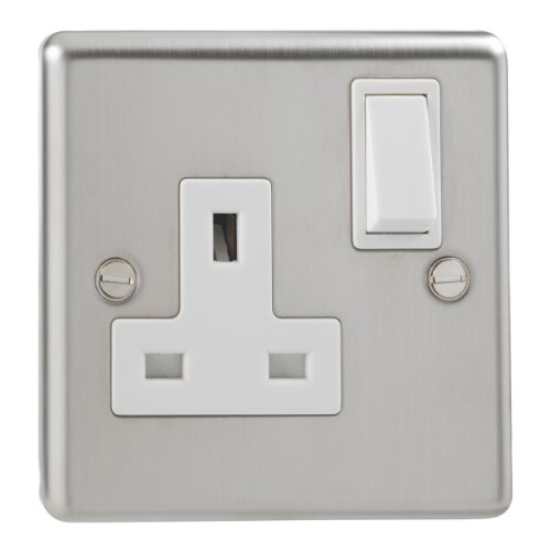 Interruptores de luz de cromo y acero, 250.00 voltsV