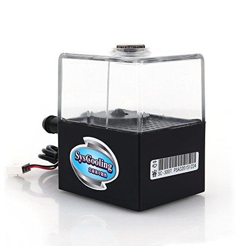 Yosoo SC-300T Pompa di Raffreddamento a Liquido Ultra-Silenziosa per Sistema di Raffreddamento per CPU, 12 V CC, Portata Max. 300 L/h