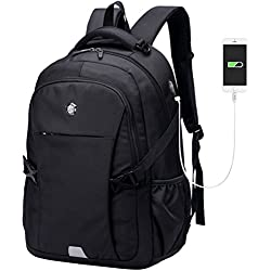 Aoking 35L Business Computer Rucksack Notebook Reise Student Tasche Oxford Outdoor Rucksack mit Ladeanschluss