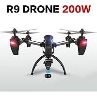 Jiayuane Hanbaili R9 Drone de transmisión en tiempo real con cámara FPV WIFI, 4 motores de operación Crown High, Bass Flying Power de forma simultánea, RC Quadcopter para niños con modo sin cabeza