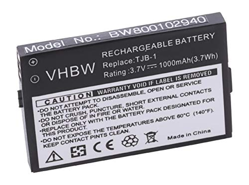 vhbw Li-Ion Akku 1000mAh (3.7V) für Telefon, Handy, Swissvoice MP01, MaxCom MM550BB, Binatone BB100, BB100 Plus, B200, BB200, Speakeasy, u.a wie TJB-1