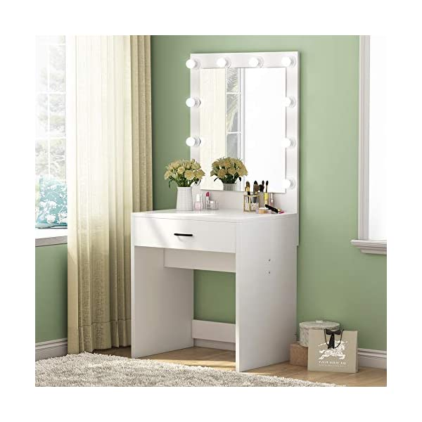 1Easylife HODT-06 Series Dressing Table Set with Stool and Mirror 41tiYwWIzTL