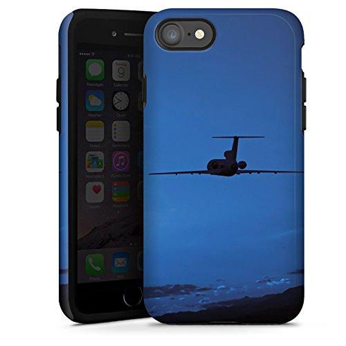 Apple iPhone X Silikon Hülle Case Schutzhülle Flugzeug fliegen Himmel Tough Case glänzend