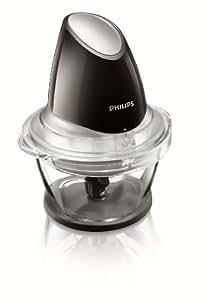 Philips HR1399/80 Zerkleinerer (500 Watt, 1 l Glasschüssel) schwarz