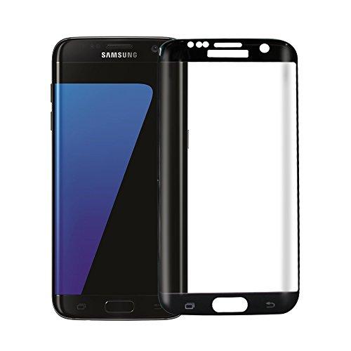 Samsung Galaxy S7 Edge Cristal Templado, OMOYMS [2 Unidades], Cristal Vidrio Templado Protector Samsung Galaxy S7 Edge (negro) - [Cobertura Completa] [Ajuste Perfecto] [Ultra Resistente a Golpes y Rayado] [Alta Transparencia] [Sin burbujas] [Dureza de Grado 9H] - protector pantalla Samsung Galaxy S7 Edge