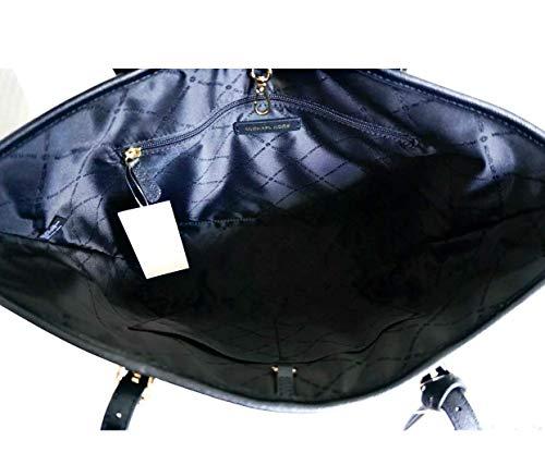 Michael Kors Jet Set Medium Carryall Tote Bag Purse Black (Tote Michael Set Kors Michael Medium Jet)