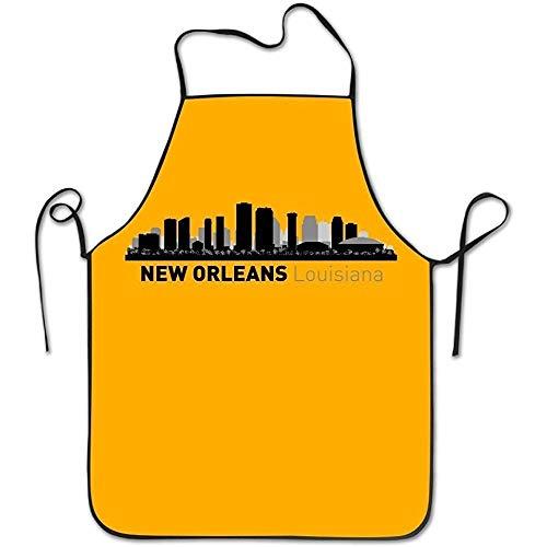 gatetop New Orleans Louisiana City Silhouette wasserdichte Kochschürzen