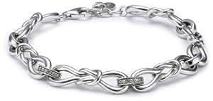 Esprit Damen-Armband Love Bend 925 Sterling Silber 18 + 2 cm ESBR91179A180