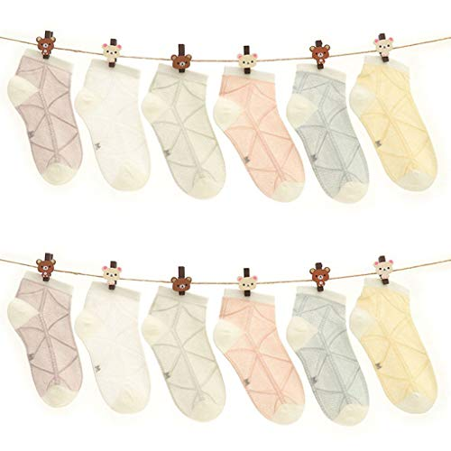 Thin Stripe Socks (12pcs Baby Cotton Net Boat Socks Thin Summer Spring Student Clothing Cute Newborn Short Socks)