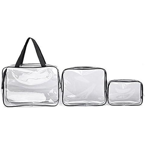 POTOBrand, 3 PC viaje transparente debe Materproof bolsa cosmético lavado baño suministros