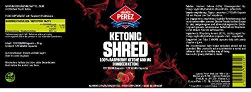 Ketonic SHRED – Raspberry Ketone (Himbeer Ketone) 600 mg – 120 Vegi Kapseln