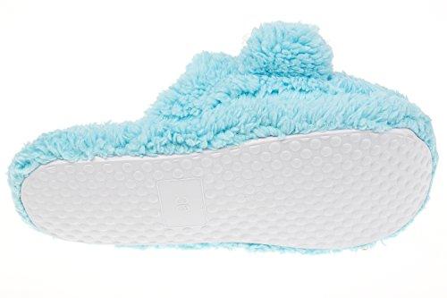 GIBRA® Damenpantoffeln mit weißer Sohle, hellblau, Gr. 36-41 Blau