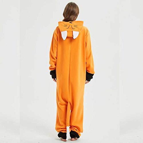 JIAWEIDAMAI Hohe Qualität Fuchs Kigurumi Tier Erwachsene Orange Frauen Pyjamas Party Cosplay Unisex Nachtwäsche Halloween Kostüm