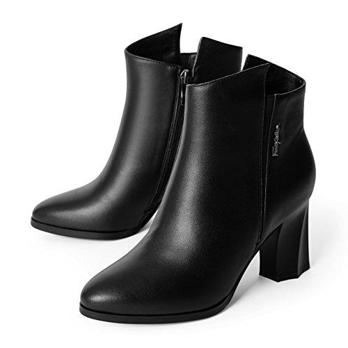 Automne et hiver bottes/Simple en forme de bottes plate-forme épais/Martin bottes/ chaussures occasionnelles A