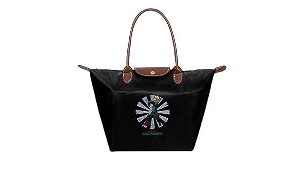 My Hero Academia Waterproof Leather Folded Messenger Nylon Bag Travel Tote Hopping Folding School Handbags