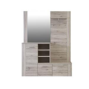 FORTE   Garderobe, Holz, Sandeiche Dekor, 155.19 x 41.6 x 200 cm