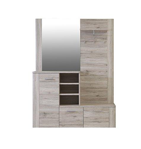 NEWFACE   Garderobe, Holz, Sandeiche Dekor, 155.19 x 41.6 x 200 cm