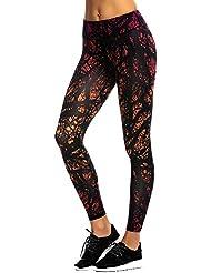 JIMMY DESIGN Leggings de Sport Femme imprimé Jogging Yoga Pantalons
