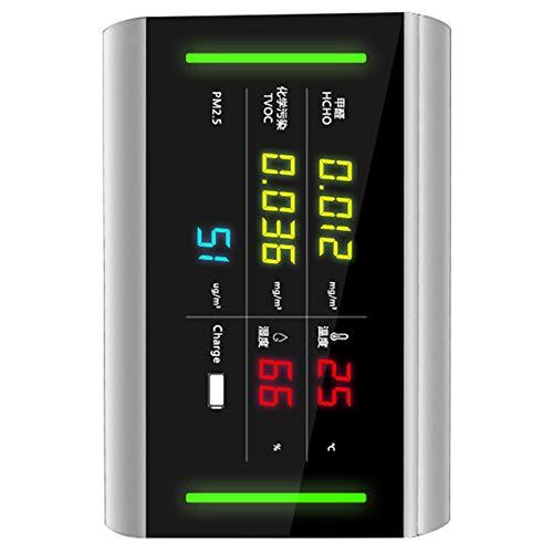TOOGOO 5 In 1 USB Wieder Aufladbare Hcho/Tvoc / Pm2.5 Formaldehyd Temperatur und Luft Feuchtigkeit Meter Luft Qualit?t Monitor Analyzer Gas Detektor -