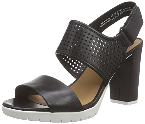 Clarks Pastina Malory, Damen Slingback Pumps, Schwarz (Black Leather), 39 EU (5.5 Damen UK)