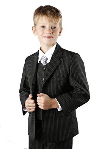 Jungen Nadelstreifen-Anzug, Gr. 86-152, Schwarz