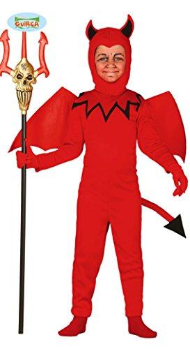 Teufel mit Flügeln Kinder Kostüm Gr. 98-146, Größe:128/134 (Kinder Teufel Kostüme)