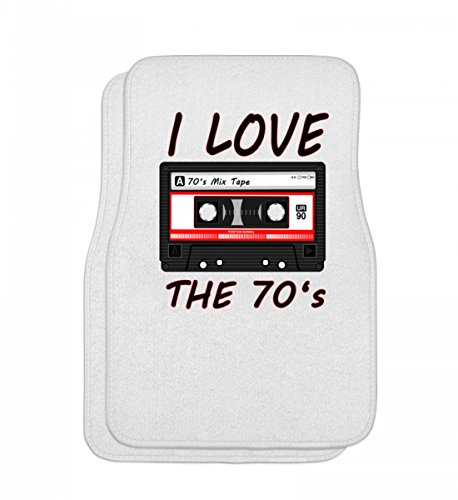 Hochwertige Automatten - I Love The 70's 70er, 70s, Folk, Jazz, Kasette, Musik, Party, punk, Rock, siebziger, T-Shirt, Shirt