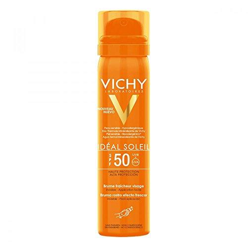 Vichy Ideal Soleil Erfrischendes Sonnenspray für das Gesicht LSF 50, 75 ml Spray -