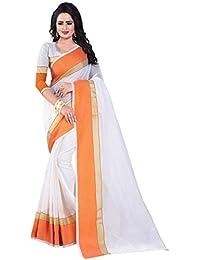 J B Fashion Women's Multi Colour Manipuram Cotton Silk Saree With Blouse Material