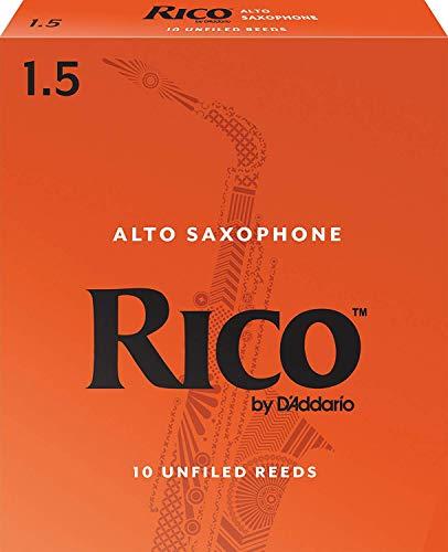 Confezione da 10 ance Rico per sassofono contralto, durezza 1,5