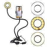 Starford Flexible Selfie Ring Light with Cell Phone Holder Standard for Live Stream