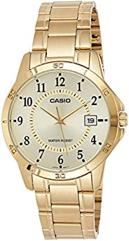 Casio Men's Silver Dial Stainless Steel Analog Watch - MTP-V004G-9