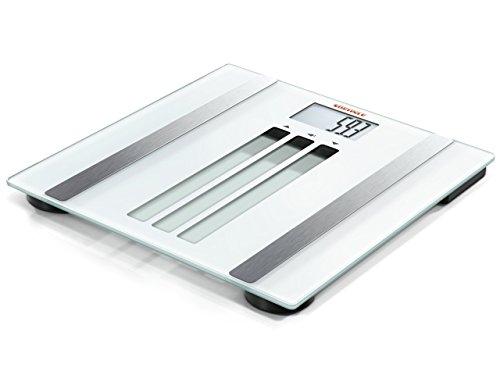 Soehnle 63356 Body Control Easy Fit Pèse-personne numérique impédancemètre Plastique Blanc 36 x 3,8 x 35 cm