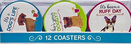 Molly & Rex Cool Sonnenbrille Hunde sortiert Laminiertes Papier Untersetzer 36112, 12ct