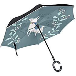 LLAMA PASTEL. Paraguas invertido