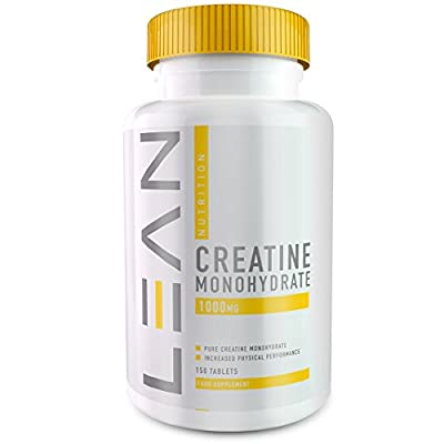 LEAN Nutrition Creatine Monohydrate Tablets - Creatine Capsules For High Intensity Workouts - High Strength 1000mg