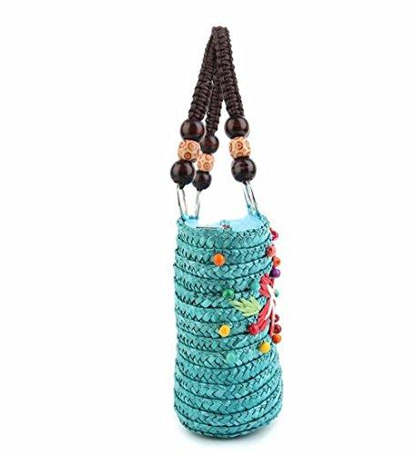 GBT Gewebte Tasche Handtasche Kosmetiktasche lake blue