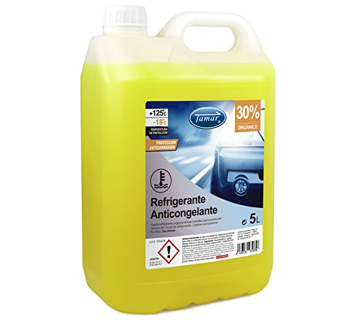 Tamar 601120005 Coolant / Antifreeze 30% Organic, 5 liters